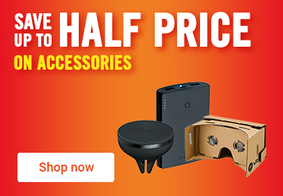 Save up to half price on accessories